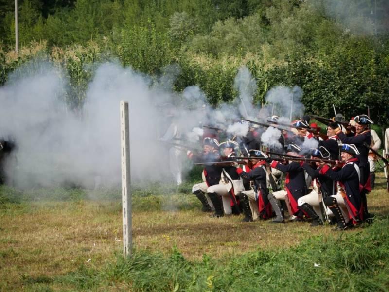 battaglia fuori dal Forte. uno dei tanti eventi al Forte di Bard