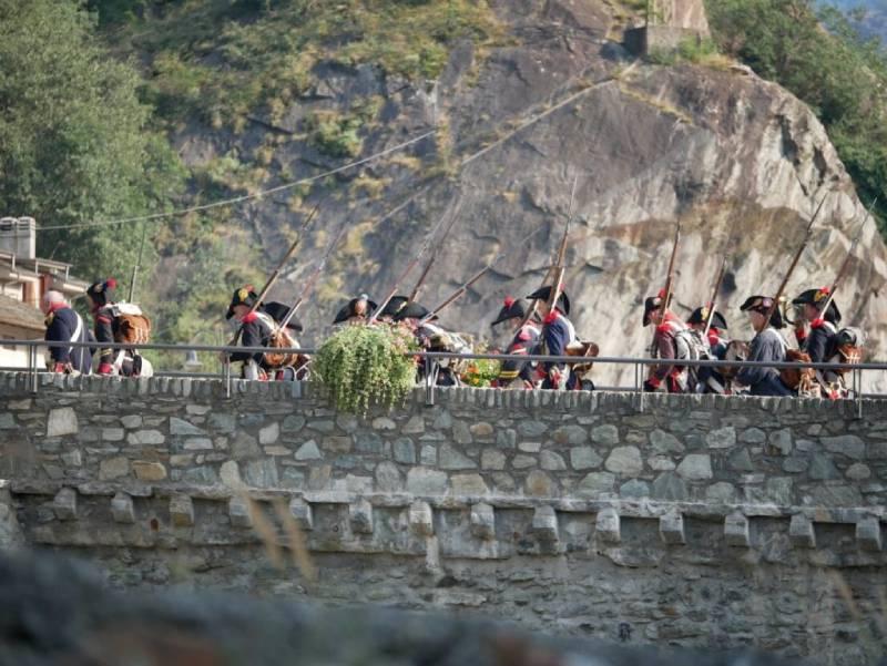 inizio della battaglia, l'assalto al Forte di Bard