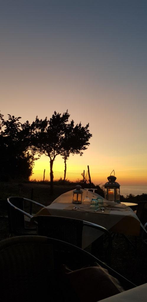 cose da fare all'isola d'Elba, cena con vista dal ristorante Amandolo