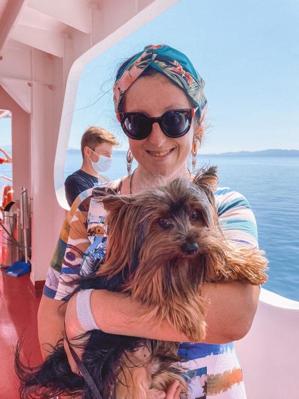 io e Aleksej in traghetto, Sunshine Blogger Award 2020