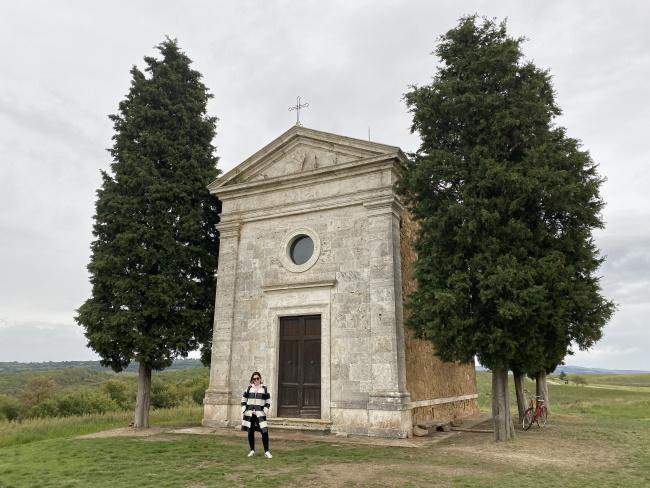 Io alla Cappella della Madonna di Vitaleta