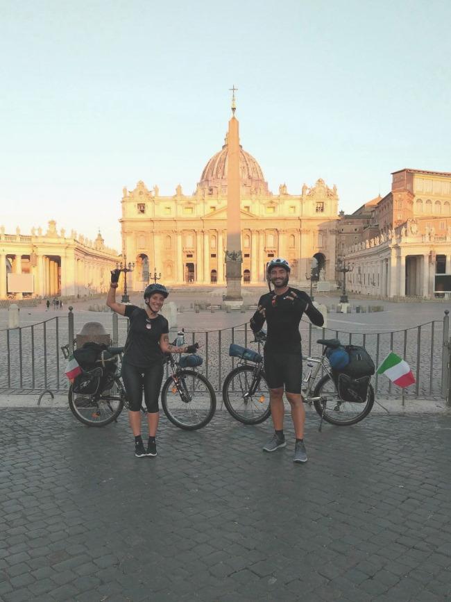 Viaggiare in bici per l'Italia, la partenza da Roma