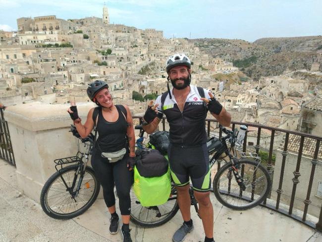 In bici a Matera