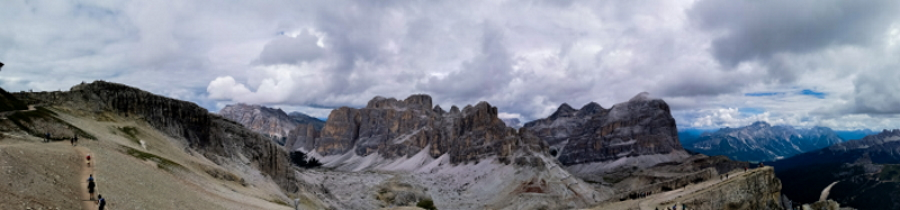 Dolomiti in camper: Vista panoramica Lagazuoi