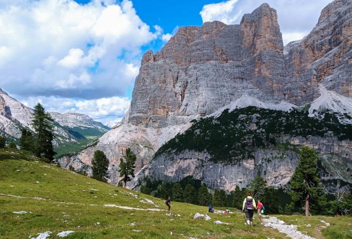Il nostro viaggio sulle Dolomiti in camper, il sentiero rifugio Scotoni, Lagazuoi