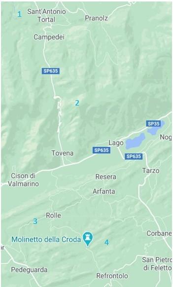 itinerari Veneto