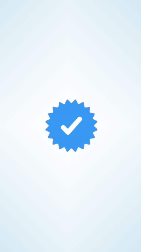 simbolo della spunta blu di instagram